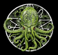 Cthulhu Wandrelief mit Pentagramm