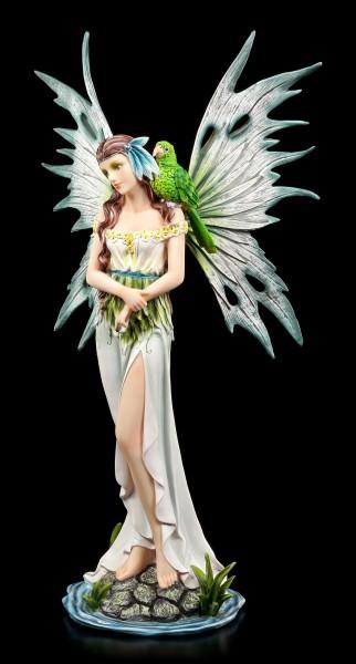 Wasser Elfen Figur mit Papagei