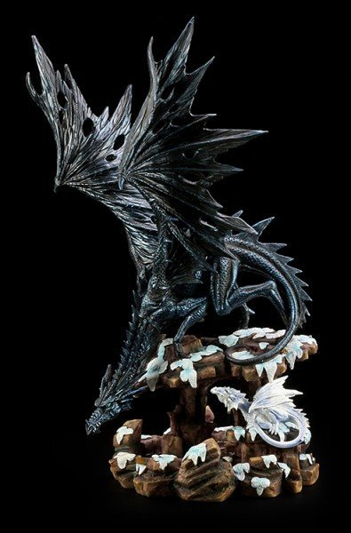 Dragon Figurine - Dragons Wisdom - Snow