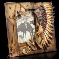 Indian Wooden Picture Frame - Chief