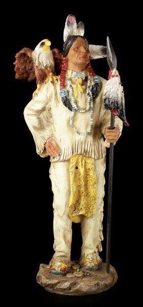 Indianer Figur - Mit Speer und Adler