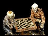 Chess Playing Skeleton Figurines - Waiting
