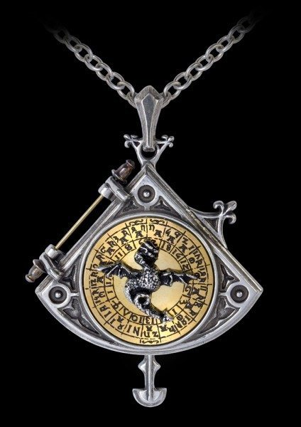 Alchemy Steampunk Halskette - Astral Dragon Quadrant Locket