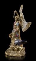 Small Arch Angel Michael Figurine - bronzed