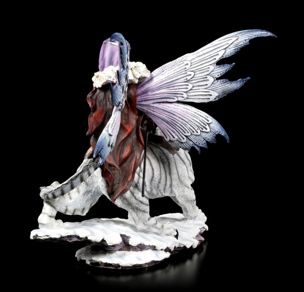 Elfen Figur - Magierin mit Säbelzahntiger
