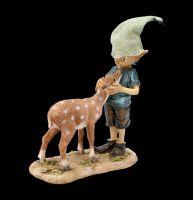 Pixie Kobold Figur mit Rehkitz - Bambi und ich