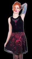 Blood Rose - Midi Skater Dress