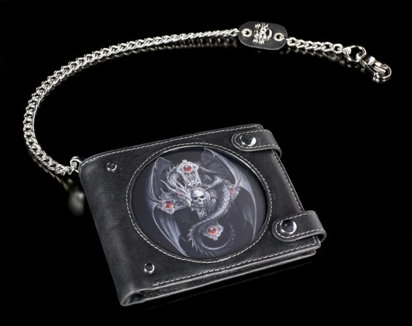 3D Wallet with Dragon - Gothic Guardian