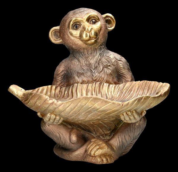 Monkey Figurine with Bowl