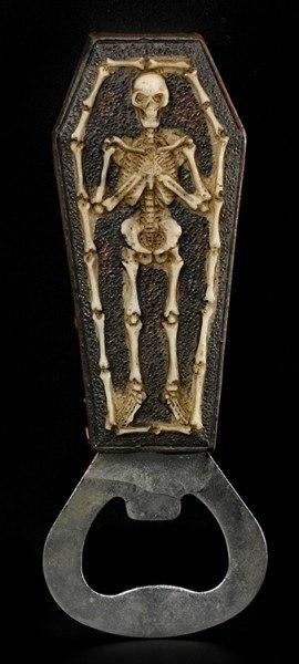 Flaschenöffner - Skelett im Sarg