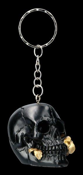 Schlüsselanhänger Totenkopf - Black Rose from the Dead