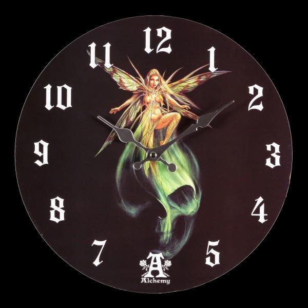 Wanduhr mit Fee - Absinthe Fairy