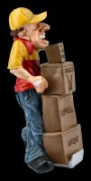Funny Jobs Figur - Paketbote mit Päkchen
