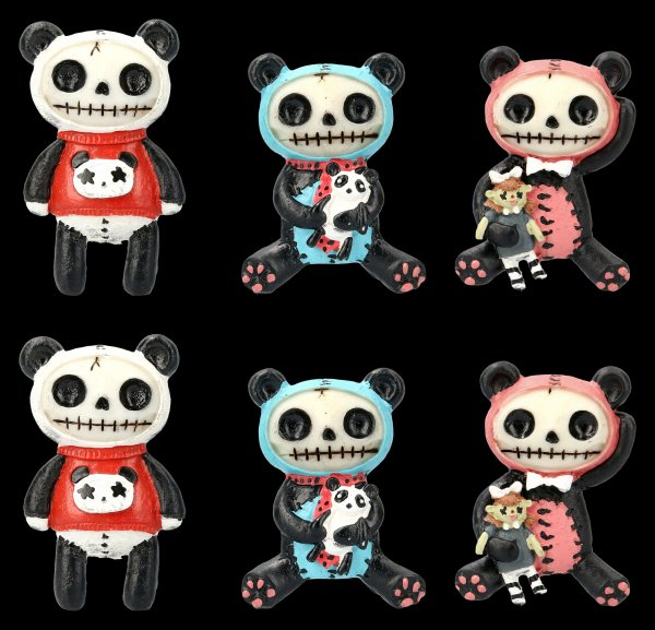 Furrybones Fridge Magnets - Pandie - Set of 6