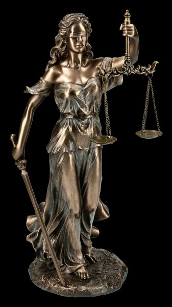 Themis Figurine - Justitia Greek Goddess with Sword and Scale