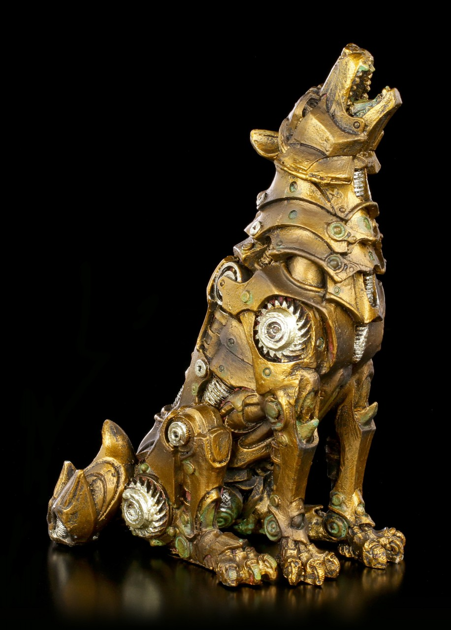 Steampunk Figurine - Howling Wolf