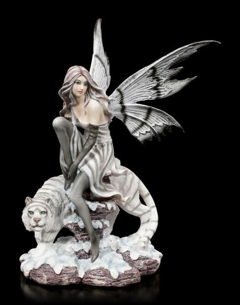 Dark Fairy Figurine - Kassandra with Tiger