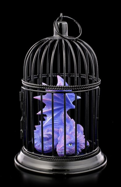 Dragon Figurine in Cage - Amethyst Pet