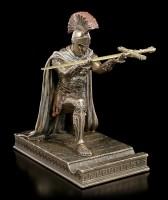 Roman Letter Opener with Pen Holder - Field Commander kneels down