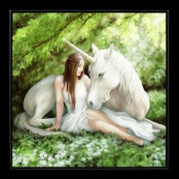 Small Crystal Clear Picture with Unicorn - Pure Heart