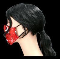 Gesichtsmaske Weihnachten - Totenkopf Red Creepmas