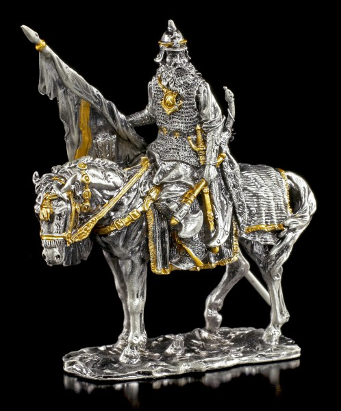 Viking Warrior with Horse and Axe - Pewter Figurine
