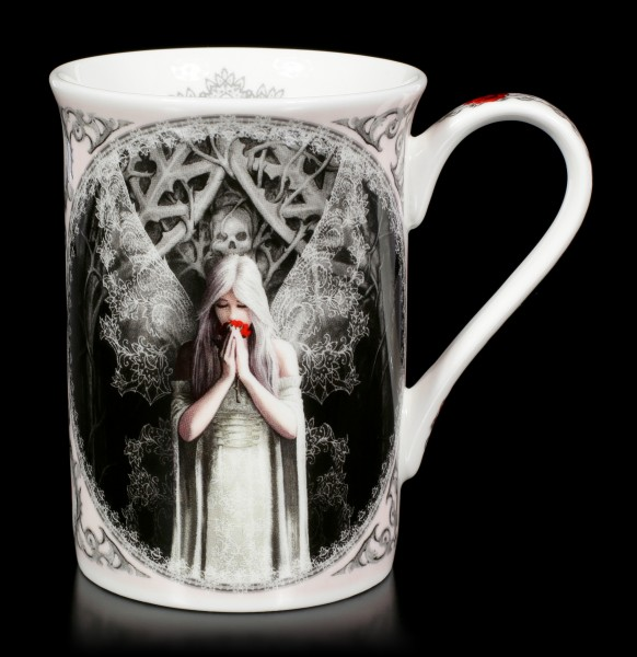 Porcelain Mug with Gothic Angel - Only Love Remains