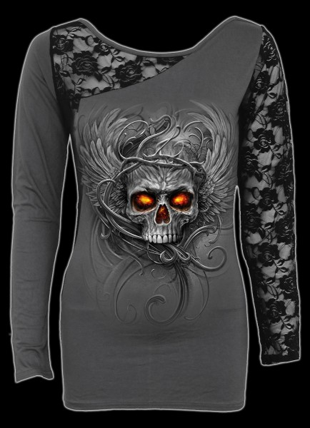 Spiral Womens Longsleeve with Skull - Roots of Hell