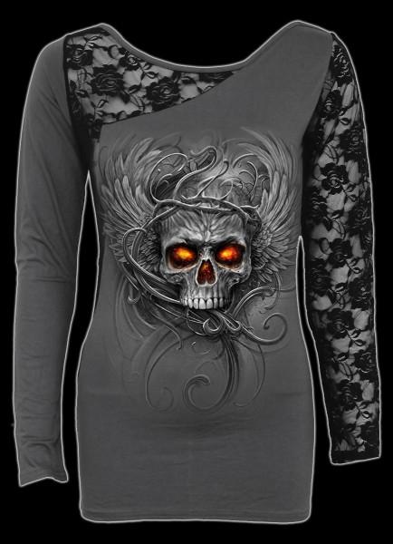 Spiral Damen Langarmshirt - Totenkopf Roots of Hell