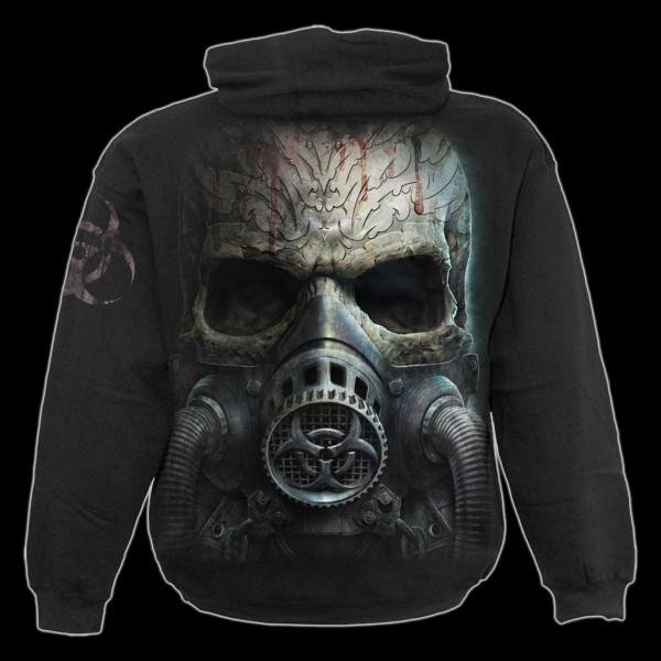 Totenkopf Kapuzenpullover - Bio-Skull