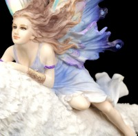 Butterfly Fairy riding on Wolf - Free Spirit