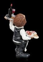 Funny Job Figur - Kellner mit Schlemmereien