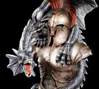 Dragon Figurine on Spartan Warrior Armor