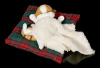 Cat Figurine asleep on Blanket