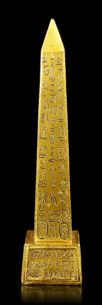 Egyptian Obelisk with Hieroglyphics - gold colored