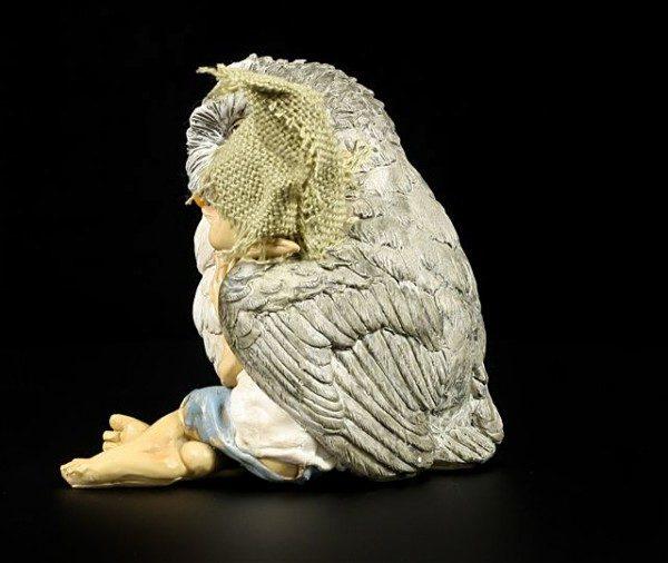 Pixie Goblin Figure - Snuggle with Owl