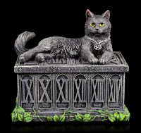 Tarot Card Box with Cat - Fortune's Watcher