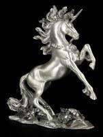 Pewter Unicorn Figurine with Gemstones