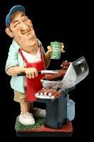 Funny Job Figur - Grillprofi mit Gasgrill