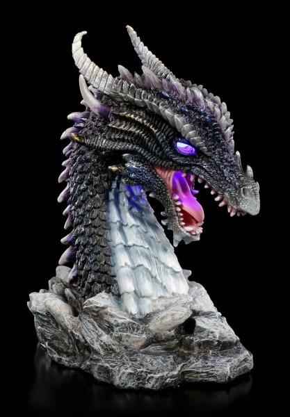 Dragon Bust with LED - Blue Terror