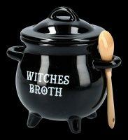 Soup Bowl - Cauldron with Broom
