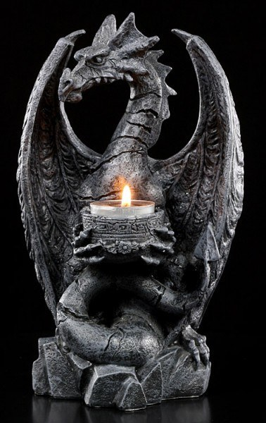 Tealight Holder - Fossilised Dragon