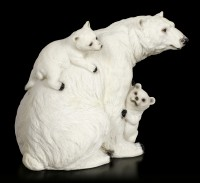 Polar Bear Figurine - Mother with two Youngs