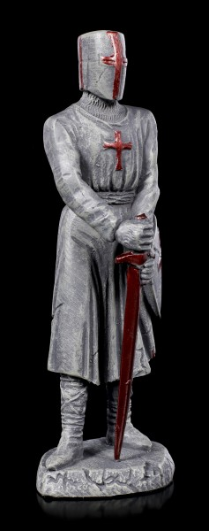 Knight Templar Figurine with red Sword