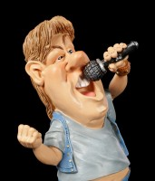 Funny Job Figurine - Singer with Microphone