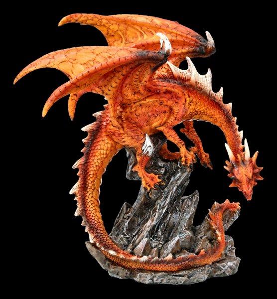 Dragon Figurine - Mikan on Rock