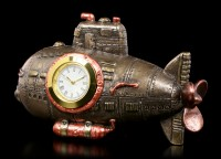 Steampunk Table Clock - Submarine