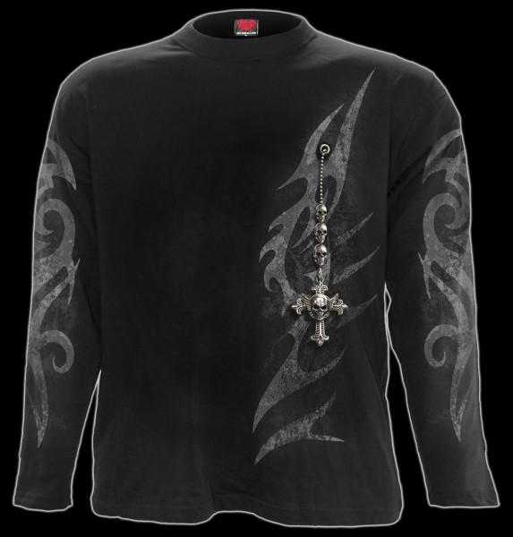 Langarmshirt Gothic - Tribal Chain