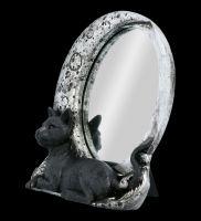 Tischspiegel - Katze vor Mond