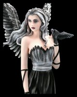 Schwarze Engel Figur groß - Nevermore